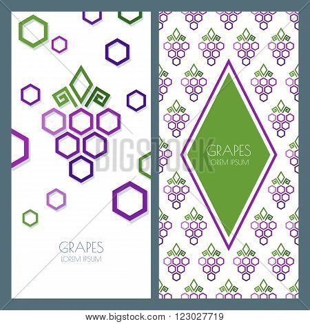 Vector Abstract Seamless Pattern And Background With Geometric Shape Grapes