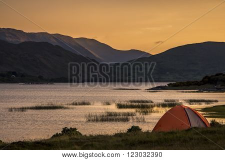 Lough Mask is a limestone lough (lake) of 20500 acres (83 km²) in County Mayo Ireland north of Lough Corrib West Ireland.