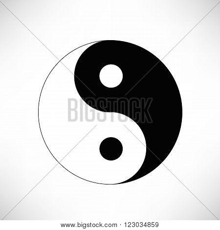 Yin Yang Symbol Isolated on White Background.