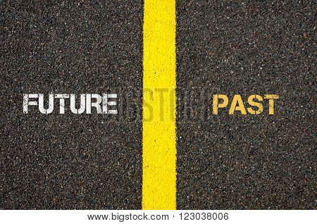 Antonym Concept Of Future Versus Past