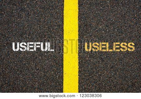 Antonym Concept Of Useful Versus Useless