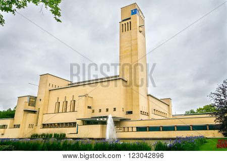 the beautiful townhall (raadhuis) of the town of Hilversum, the Netherlands