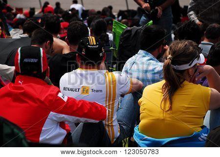 ISTANBUL/TURKEY-MAY 8, 2011 : Spectators at Istanbul Park Circuit of Formula-1 DHL Turkish Grand Prix. May 8, 2011-Istanbul-Turkey