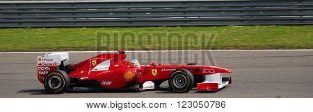 ISTANBUL/TURKEY-MAY 8 : Ferrari race car at Istanbul Park Circuit of Formula-1 DHL Turkish Grand Prix. May 8, 2011-Istanbul-Turkey