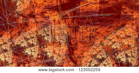 Fractal background with abstract squared shapes. High detailed image.