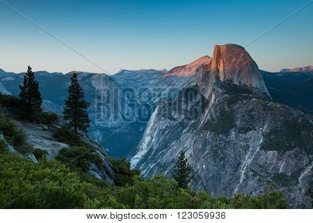Half Dome in Glacier Point, Yosemite, CA