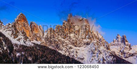 Dolomites Mountains,Passo Rolle, San Martino di Castrozza, Italy