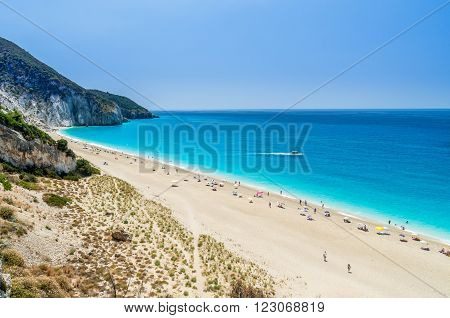 Milos beach near Agios Nikitas village on Lefkada Island, Greece