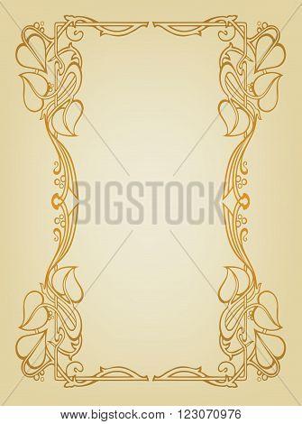 Book cover like Art Nouveau - Frame like Art Nouveau