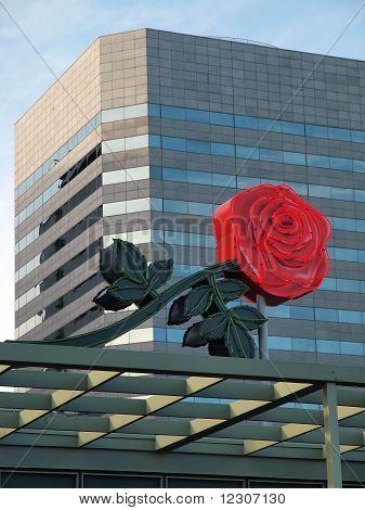 Portland Oregon Rose city, symbol flower.