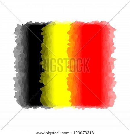 Flag of Belgium, Belgium flag - with abstract blurred waves. Stock vector illustration.
