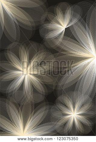 Abstract floral background. Vector illustration. design development