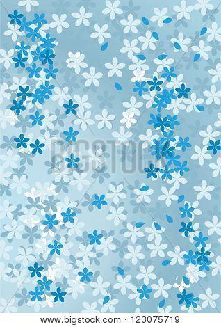 Abstract floral blue background. Vector illustration. design development
