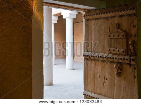 Rijadh,  Saudi Arabia - November 7, 2007: Tthe inside of the Masmak Fortress (XIX century) in the old city center