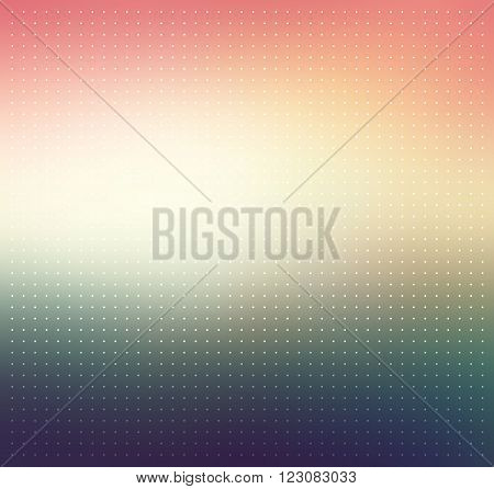 Colorful blurry abstract background with dotted texture. Pink, beige and dark blue colored gradient background. Abstract background with halftone effect. Vector illustration