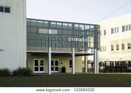 Gymnasium at Middle School in Central Florida.