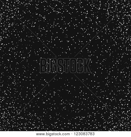 Grunge particles background. Abstract dust background. Vector template.