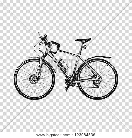 Bicycle silhouette illustration vector art. Bicycle silhouette vector. Bicycle vector. Bicycle illustration. Vector bicycle illustration.