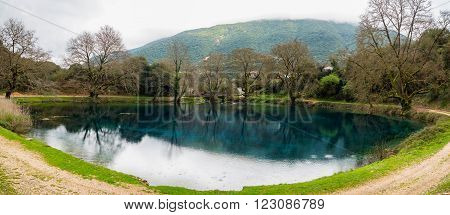 Small Lake In Greece