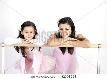 two ballerina girls