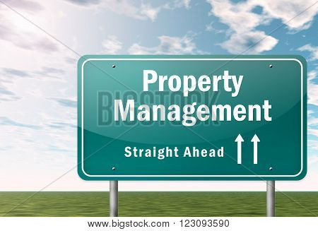 Image Picture Signpost with Property Management wording