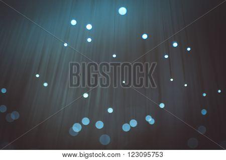 Science. Fiber optic cables, fibre connection, telecomunications concept.