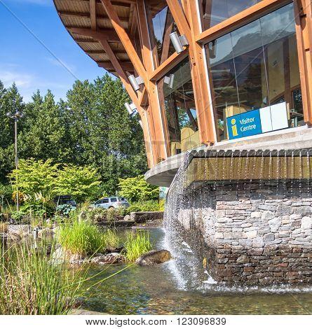 Building fragment visitor center in Squamish British Columbia
