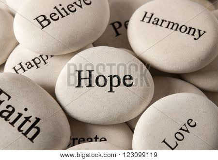 Inspirational stones - Hope