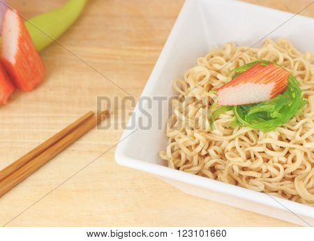 Rice Noodles With Imitation Crab Stick