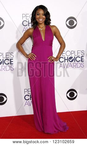 Gabrielle Union at the 41st Annual People's Choice Awards held at the Nokia L.A. Live Theatre in Los Angeles on January 7, 2015.