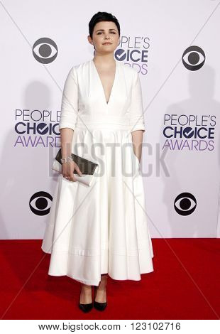 Ginnifer Goodwin at the 41st Annual People's Choice Awards held at the Nokia L.A. Live Theatre in Los Angeles on January 7, 2015.