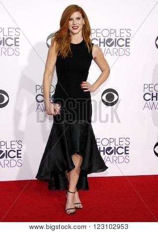 Sarah Rafferty at the 41st Annual People's Choice Awards held at the Nokia L.A. Live Theatre in Los Angeles on January 7, 2015.
