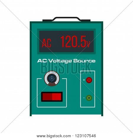 Battery, volt, AC icon vector image. Can also be used for electric circuits. Suitable for use on web apps, mobile apps and print media.