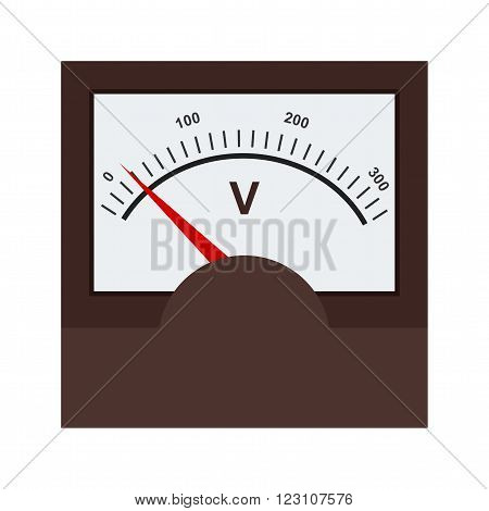 Voltmeter, meter, car icon vector image. Can also be used for electric circuits. Suitable for use on web apps, mobile apps and print media.