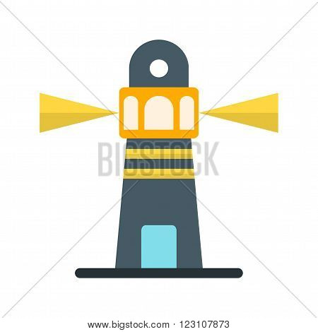 Lighthouse, light, sky icon vector image. Can also be used for sea. Suitable for use on web apps, mobile apps and print media.