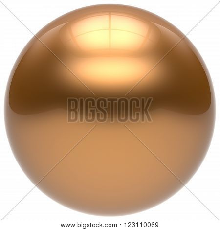 Sphere button round ball gold geometric shape basic circle solid figure simple minimalistic element single drop yellow shiny glossy sparkling object blank balloon atom icon. 3d render