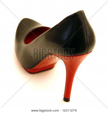 High Heel Shoes in Red and Black