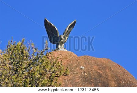 The Eagle Statue in Kislovodsk, Northern Caucasus,Russia.