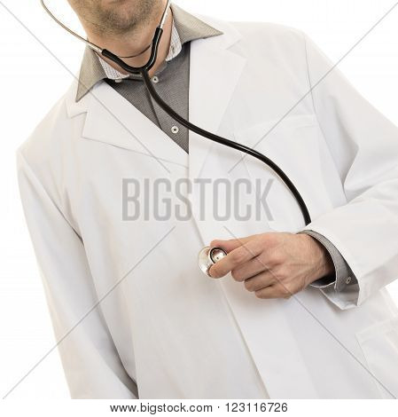 Close Up Of A Doctor's Hand, Holding A Stethoscope