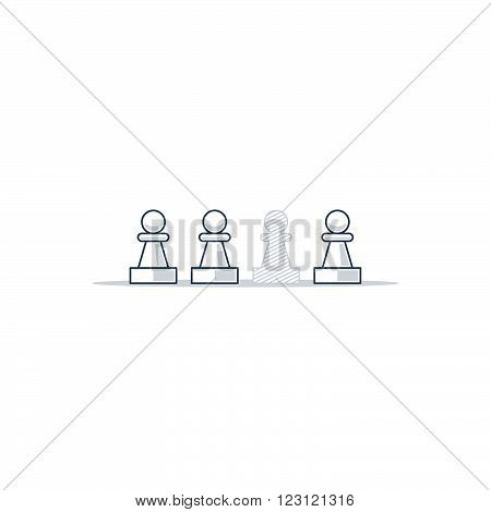 Missing piece, vacant place, recruitment concept illustration