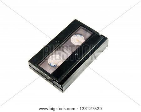 Old Video Cassette Isolated On White Background