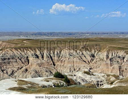 Badlands National Park in the Black Hills of South Dakota USA