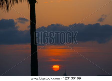 Sunset above the Key West Bight in Florida