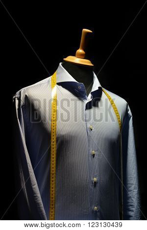 Shirt On A Mannequin Isolated On Black Background
