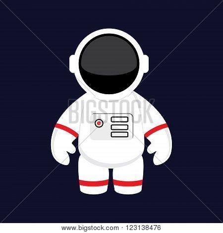 Vector illustration cartoon astronaut cosmonaut in space. Space suit. Astronaut flat icon