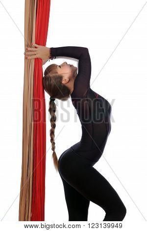 Gymnastics On Aerial Silk