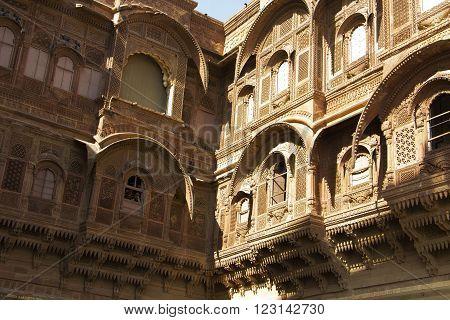 Mehrangarh fort, Rajasthan, Jodhpur, India - fine work ** Note: Visible grain at 100%, best at smaller sizes