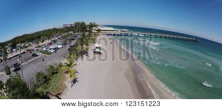 Fort Lauderdale Beach aerial view looking north