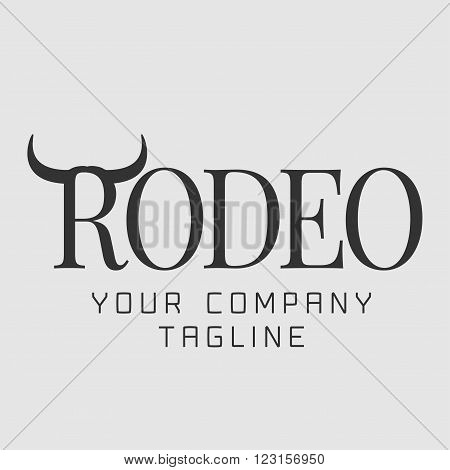 American rodeo vector logo Wild West concept sign. Cowboy image company product icon