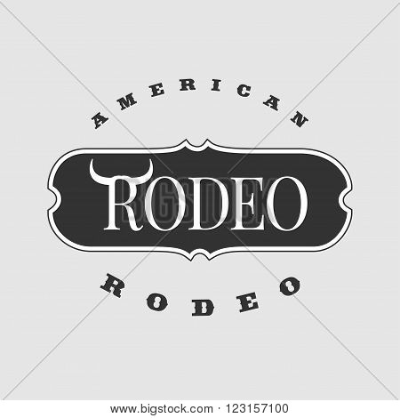 American rodeo vector template logo. Perfect for your company service product